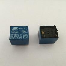 1 шт. реле SRD-05VDC-SL-C SRD-12VDC-SL-C SRD-24VDC-SL-C 24V 10A 5P T73 Мощность реле один на один off