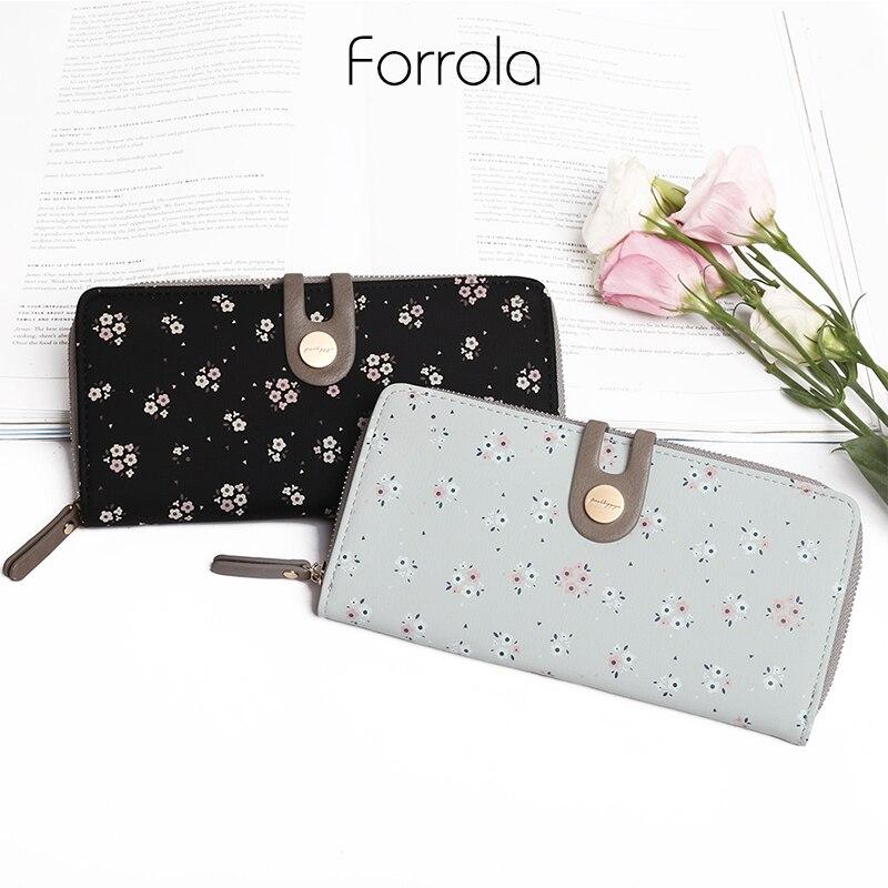 2018 Floral Leder Frauen Brieftasche Weibliche Lange Tragbare Multifunktions Brieftaschen Heißer Ändern Dame Geldbörsen Karte Halter Für Mädchen
