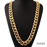 Exaggerated Thicker Aluminum Embossing Long Chains Necklace Hip Hop Jewelry For Men S Gift Street Dance