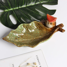 Cute Ceramic Birds Figurine Fruit Candy Ornament Dish Dessert Snack Salad Plate Decoration Wedding Handicraft Gift