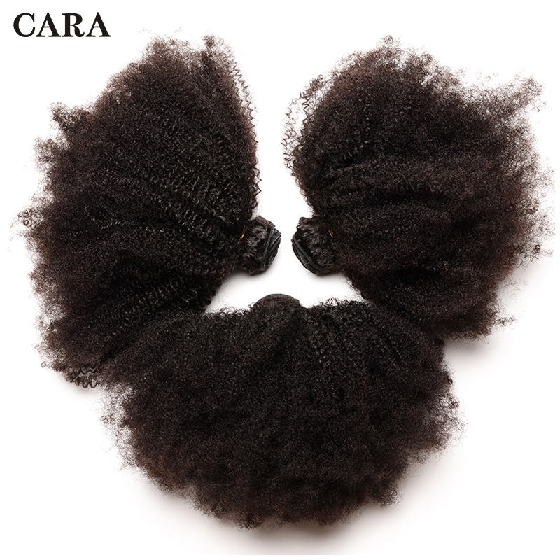 Mongolian Afro Kinky Curly Hair 1/3 Human Hair Bundles 4B 4C Hair Extension Remy Natural Human Hair Weave Extensions CARA