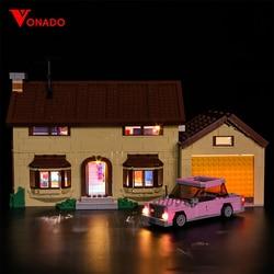 HA CONDOTTO LA Luce Kit per casa di lego 71006 Compatibile 16005 Simpson building blocks Giocattoli Dei Mattoni Regali (solo la luce con contenitore di batteria)