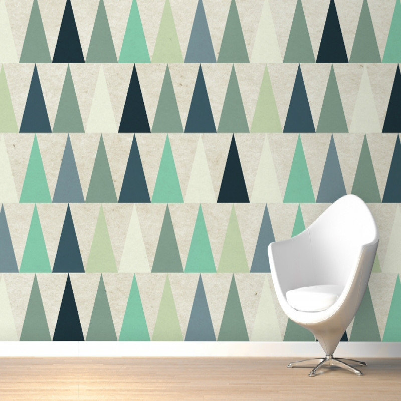 Mural Blue Triangles Design Wall Mural 3D wallpaper home Large  bedroom wall painting mural wallpaper TV backdrop stereoscopic brooklyn black and white wallpaper mural photo wallpaper 3d mural large wall painting mural backdrop stereoscopic wallpaper