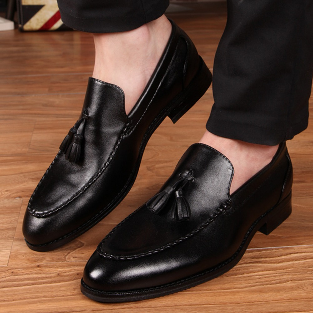 Elegant Charming Stylish Leather Tassel Oxfords Mens Slip On Fashion Business Dress Shoes