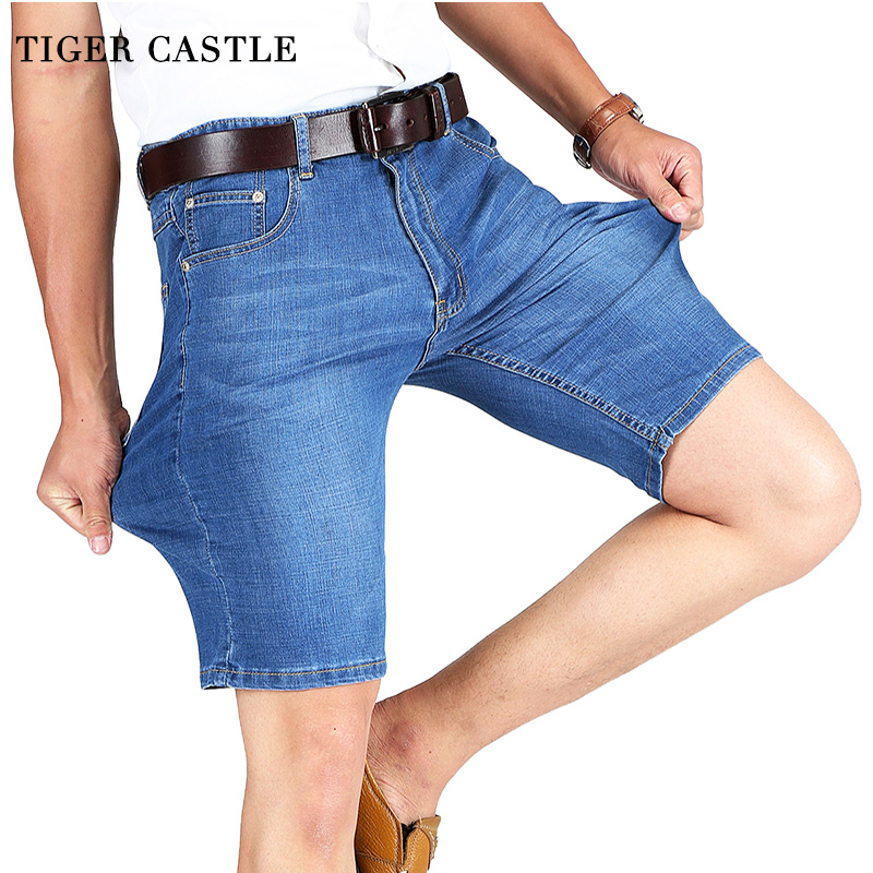 Cotton Mens Summer Denim Shorts Fashion Bermuda Male Blue Short Pants Lightweight Stretch Slim Fit Quality Shorts For Men