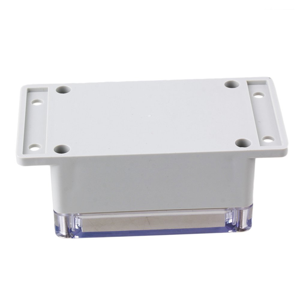 132x68x50mm Plastic IP65 Waterproof Square Electrical Project Case Sealed Junction Box with Tansparent Lid  plastic waterproof sealed power protector junction box 190mmx180mmx70mm