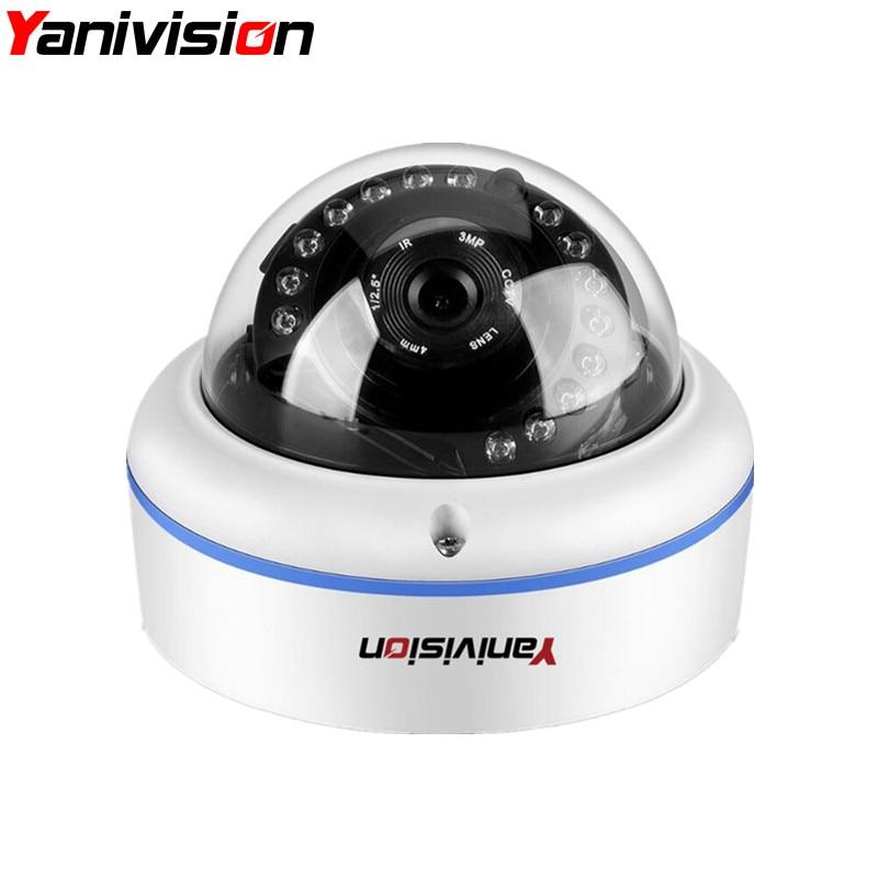 ONVIF P2P IP Camera Motion Detection H.265 5MP 4MP 1080P Surveillance IR Cut Night Vision Vandalproof Small Dome IP Cam POE ...