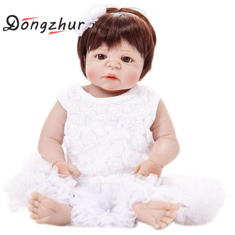 Dongzhur Full Silicone Body Reborn Baby Doll Toys Lifelike Princess Newborn Girl Babies Doll Kids Birthday Gift Bathe Toy Girls большая книга афоризмов и притч мудрость христианства