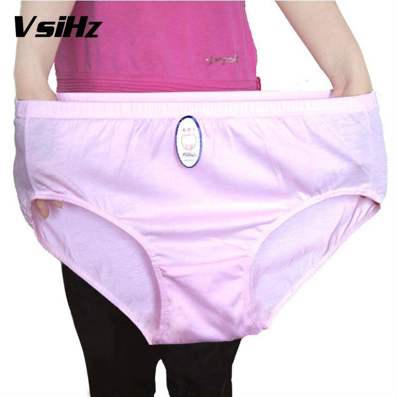 Women's   Panties   Cotton Solid Briefs Lady High-Rise plus size Obese women's underwear Health and comfort