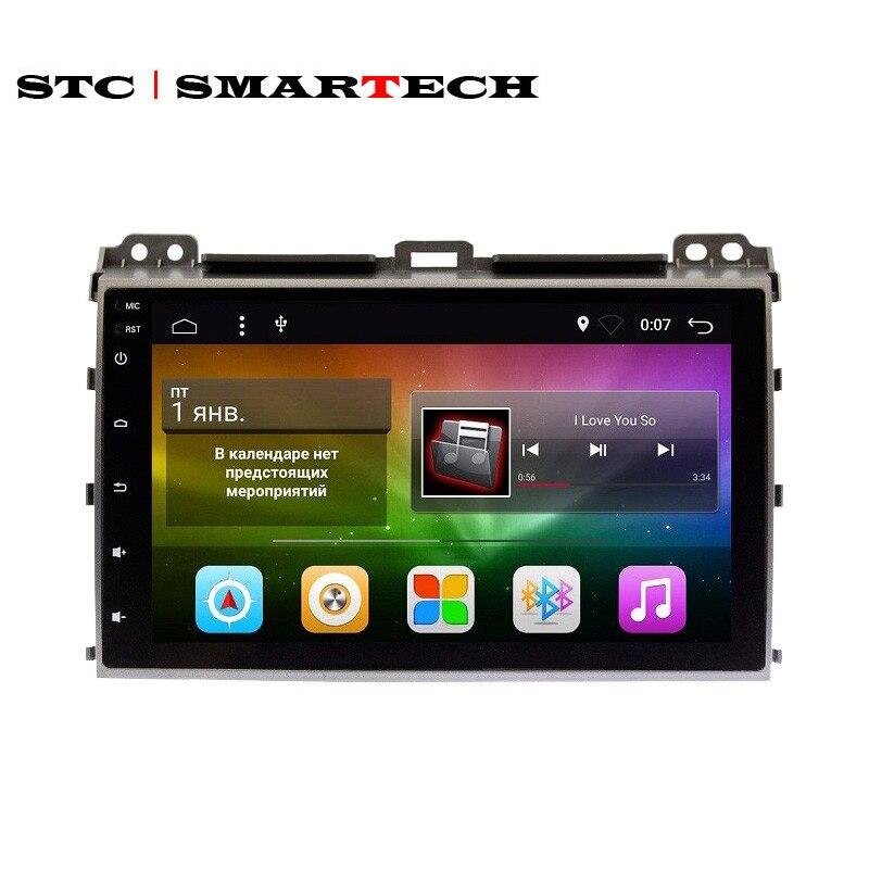SMARTECH 2 Din Android г + 16 автомобиля радио gps навигации для TOYOTA Land Cruiser Prado 120 поддержка Pioneer JBL система усиления