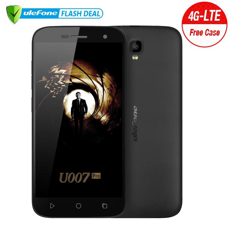 Ulefone U007 Pro Mobile Phone 5 Inch HD 1280x720 MTK6735 Quad Core Android 6.0 1GB RAM 8GB ROM 8MP CAM Dual Sim 4G Smartphone