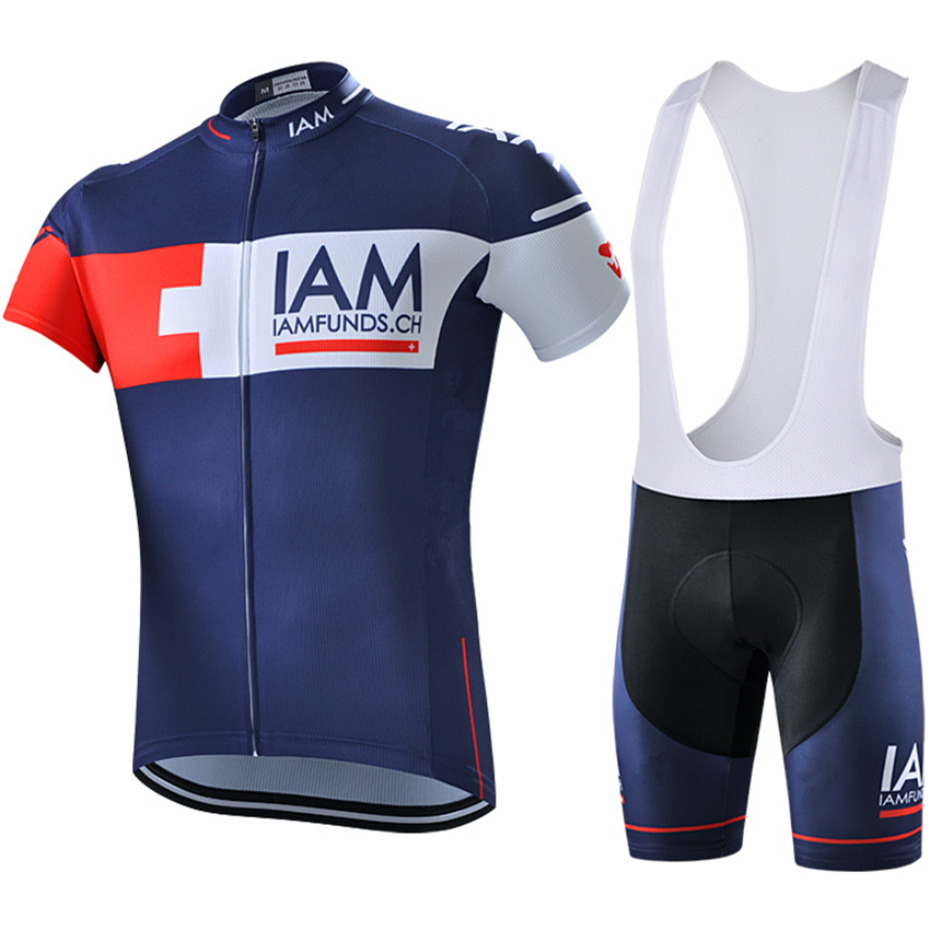 цена на New IAM cycling jersey 2016 ropa ciclismo hombre team summer cycling clothing quick-dry short sleeve bicycle pro maillot