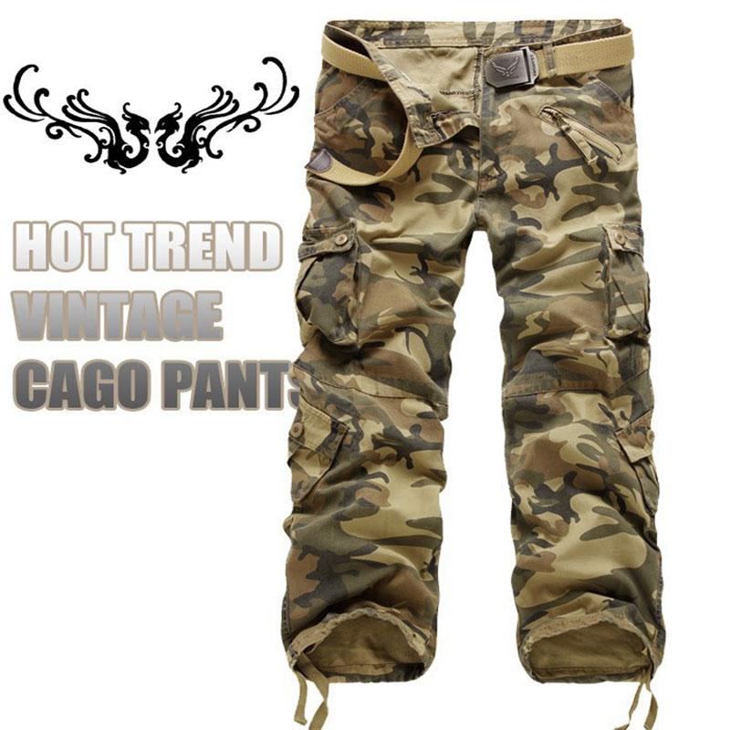 2017 Горячий Продавать бренд 6 цвет моды для мужчин армии грузов брюки камуфляжные штаны для мужчин размер 28-38 НЕТ. 022 P65
