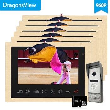 Видеодомофон Dragonsview, 10 дюймов, AHD 960P, 1,3 МП, с функцией ночного видения