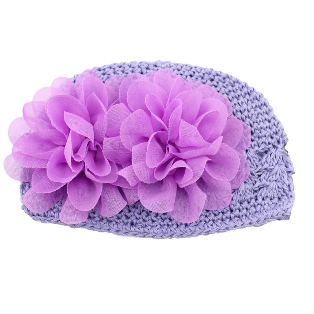 2015 Fashion Baby Hat Flower Floral Winter Warm Knitted Hat For Baby Girl Cap Infant Newborn Beanie Christmas Party Gift
