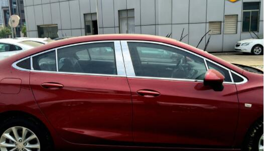 17 new FOR Cruze window decorations,FOR Chevrolet 18 stainless steel decorative stripe modification