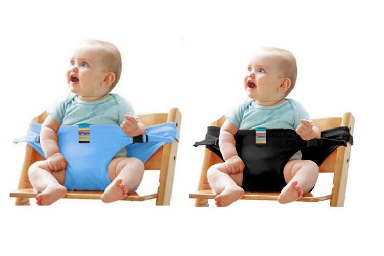 Bebé portátil silla Silla de viaje plegable lavable infantil comedor de la cubierta del asiento cinturón de seguridad auxiliar cinturón
