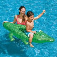 Inflatable Crocodile Swimming Float Raft Buoy Swimming Ring Water Fun Toys for Children