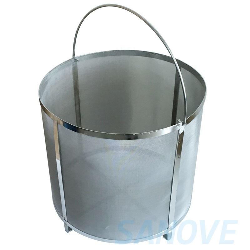 Homebrew Hop Filter stainless steel strainer pot 300 mesh For Home Brew Beer Clear Wort Malt Boil Hop Spider Moonshine Wine Brew