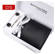 Classic Tie Set – Neck Tie – A Pair Of Cufflink – Clip – Hankie – Several Colors Available