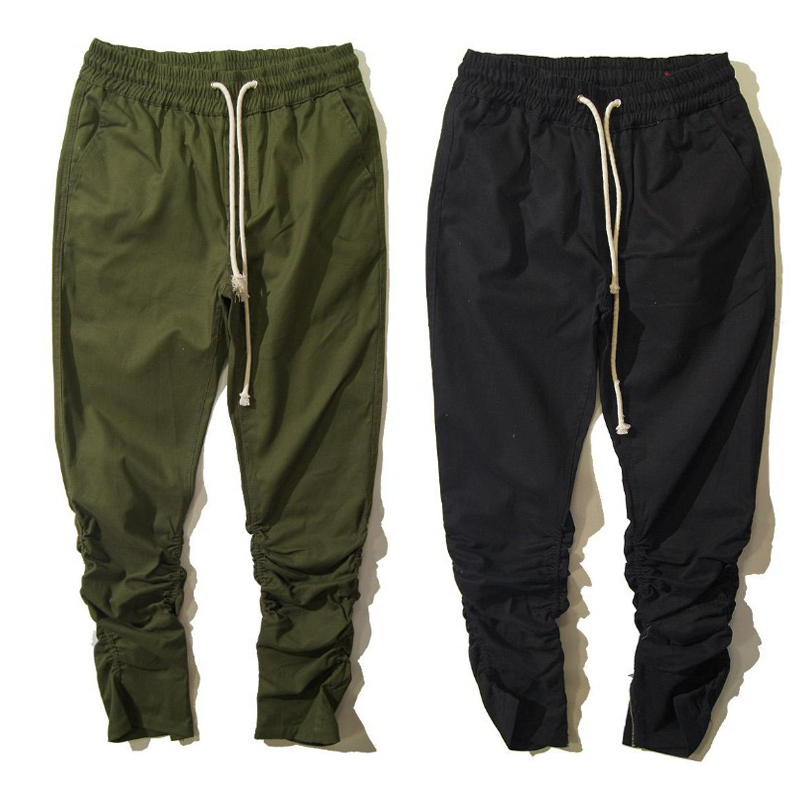 7f8eb75322 New 2016 Black & Green Harem Casual Skinny Zipper botton Sweatpants Hip Hop Trousers  Pants Men