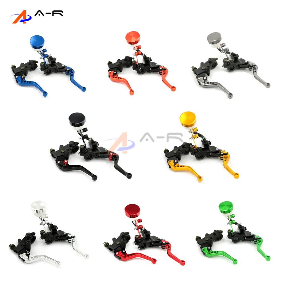Motorcycle 7/8 22MM Adjustable Brake Clutch Levers Master Cylinder Fluid Reservoir for S1000RR  F800GS F800R  F700GS F650GS