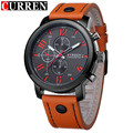 Montre Homme Reloj Hombre Relogio masculino Moda Relógio De Quartzo-Relógio Masculino Curren relógios de Pulso de Couro Homens Relógios Curren 2016