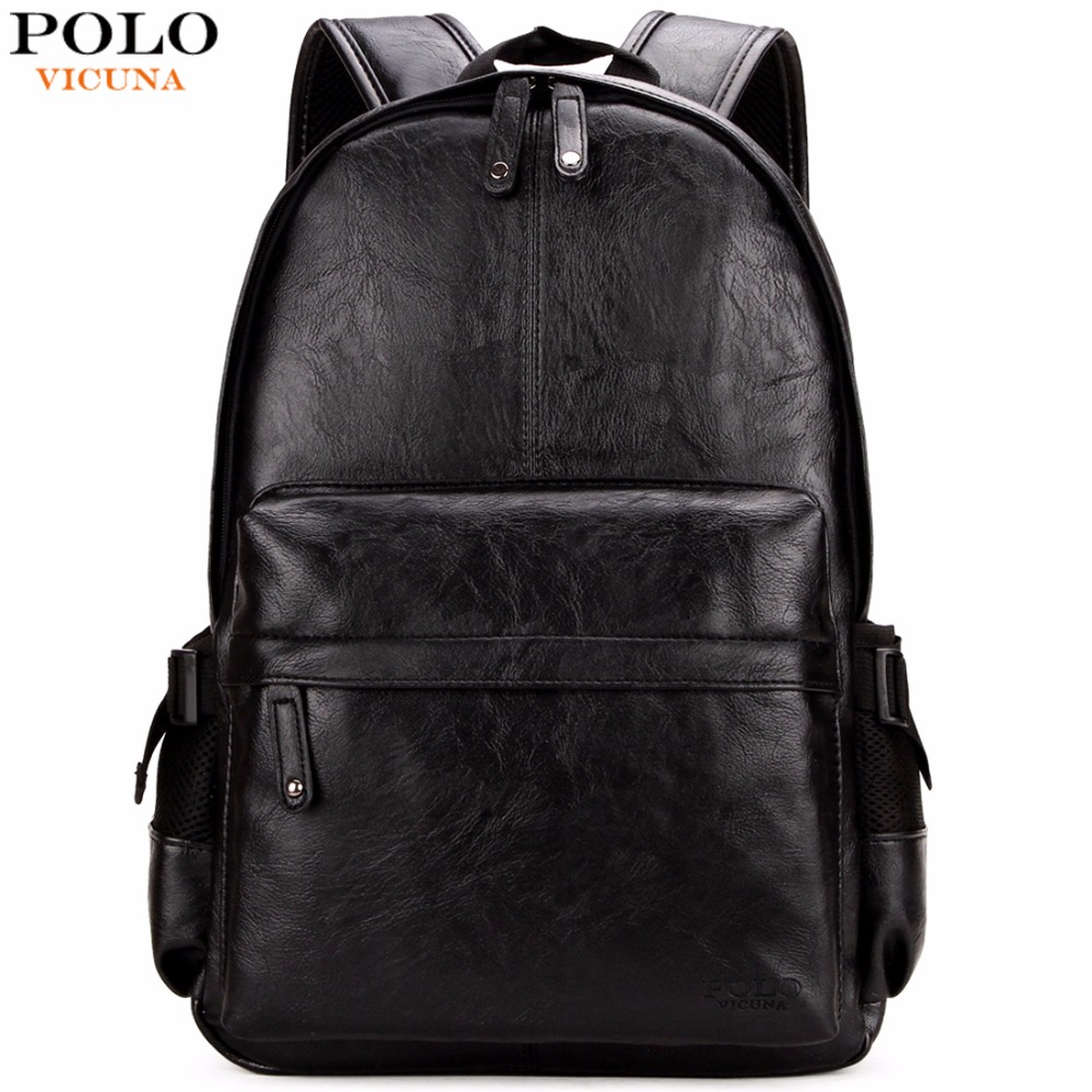 Викуньи поло известный бренд элегантный дизайн кожаный школьный рюкзак сумка для колледж простой дизайн для мужчин повседневное Daypacks mochila мужс купить на AliExpress