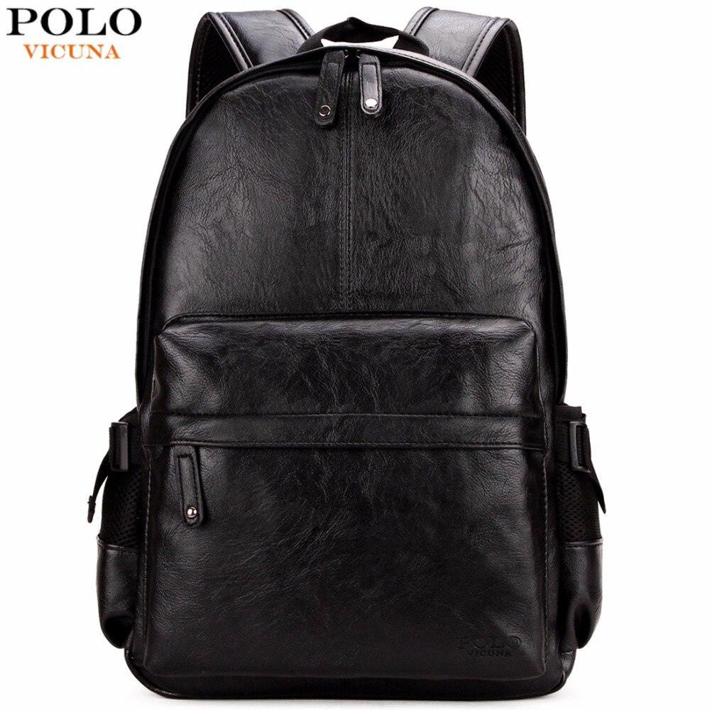 Gepäck & Taschen Herrentaschen Freundlich Vikunja Polo Berühmte Marke Adrette Leder Schule Rucksack Tasche Für College Einfache Design Männer Casual Daypacks Mochila Männlich Neue