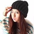 Red Black Gray White Beanie 2017 Knitted Winter Hats for Women Fashion Soft Ball Crocheted Bobble Cap Autumn Winter Cute Berets
