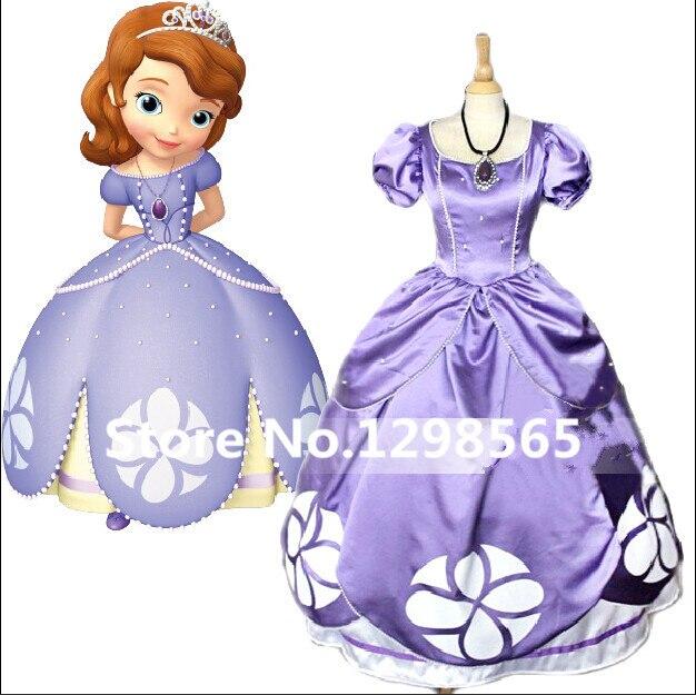 2028 5 De Descuentovestido De Princesa Sofia La Primera Princesa Sofia Cumpleaños Vestido Púrpura Sofia Cosplay Disfraz Peluca Para Adultos On