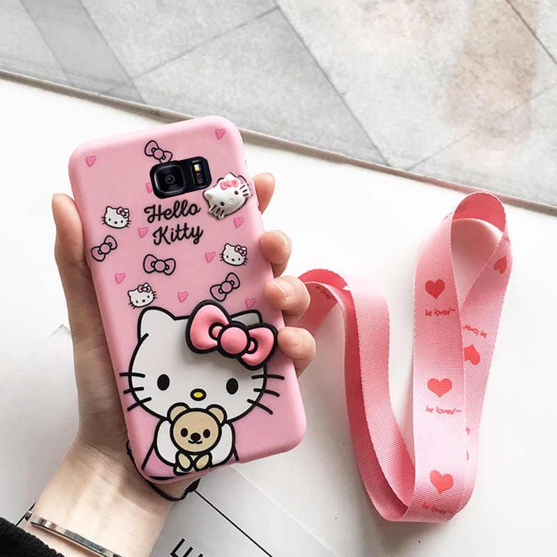 9ea743a18 SAM S10 Cute 3D Hello Kitty phone Case For Samsung Galaxy S10 plus / S10e /