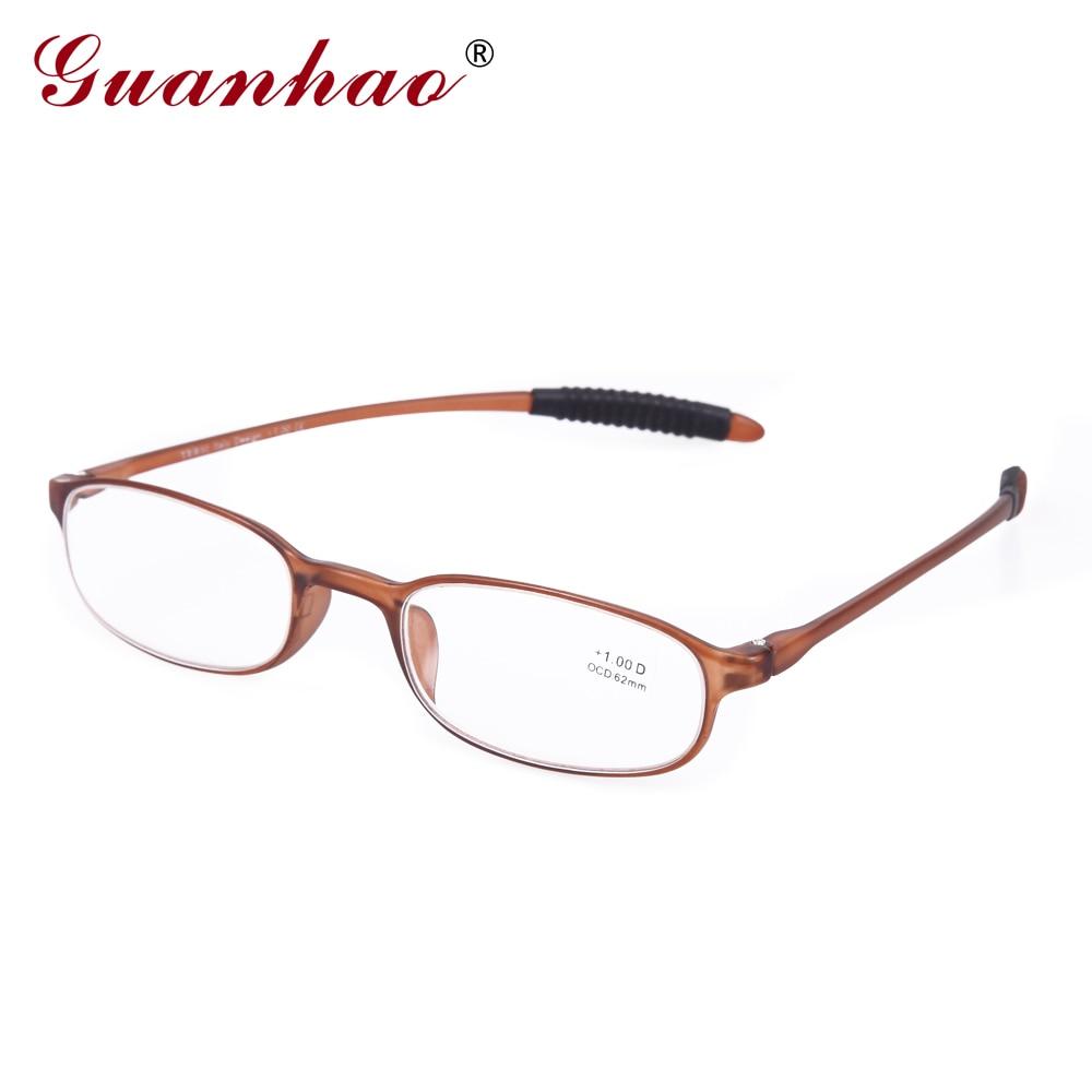 GUANHAO Mujeres Gafas Retro Gafas de Lectura Ultraligeras Delgadas Marco Unisex Hombres Mujeres Puntos Gafas Hipermetropía 1.0 1.5