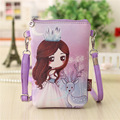 PU leather cartoon characters printing coin purse small pouch bags children mini messenger bag bolsa feminina for kids girls