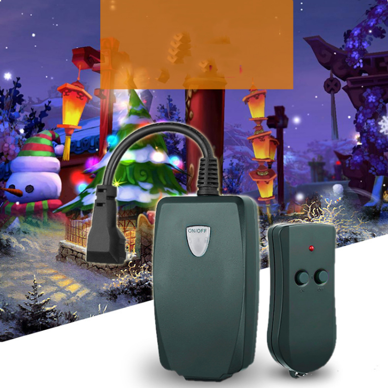 New Outdoor Remote Control Outlet Wireless Light Switch Socket US Plug Waterproof US Plug font b