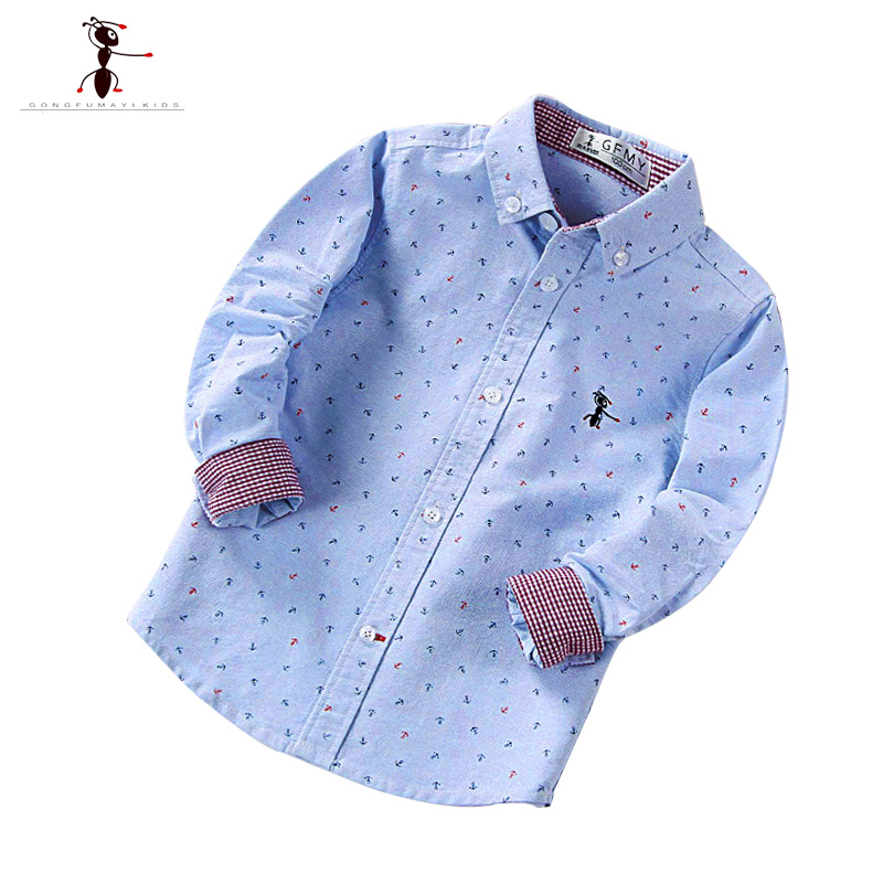New Arrival 2016 Turn-down Collar Full Sleeve Casual Kids Hot Sales Blouse Camisa Slim Fit Chemise Kids Childhood Shirts 1511 недорго, оригинальная цена