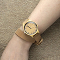 Bamboo Wooden Women Watch For Friends Gifts With Long Genuine Leather Starps
