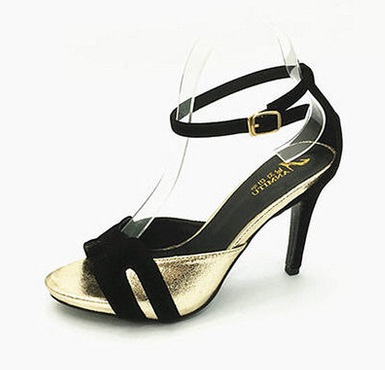ФОТО High thin heels sandals button female small 31 32 33 plus size 40 41 42 43 free shipping