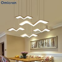 Omicron Modern LED Chandeliers Suspension Seagul Creative Art Decor Lamp For Living Room Bedroom Home Decor Fixtures Lights