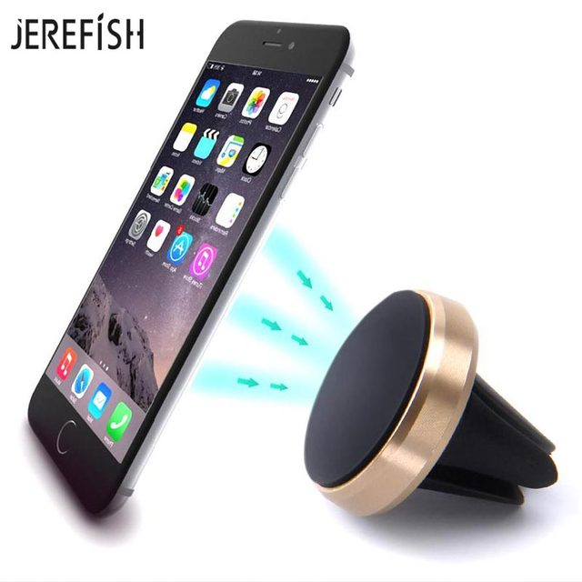 cf7de57d8d6242 JEREFISH Magnet Car Air Vent Mount Universal Magnetic Cell Phone Stand  Mobile Car Phone Holder for iPhone 7 8 8Plus GPS Support