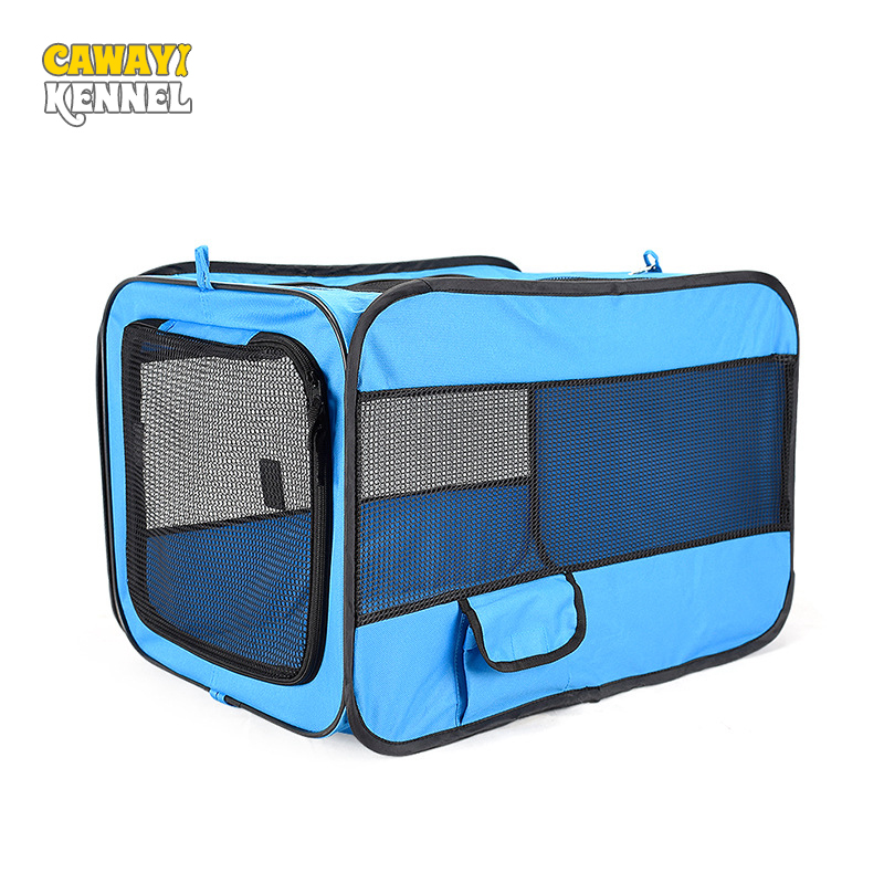 Pet Car Dog Transport Box Cage Dog Carriers Carrying For Small Dogs transportin perro hundebox auto bolso perro honden tassen-in Dog Carriers from Home & Garden    1