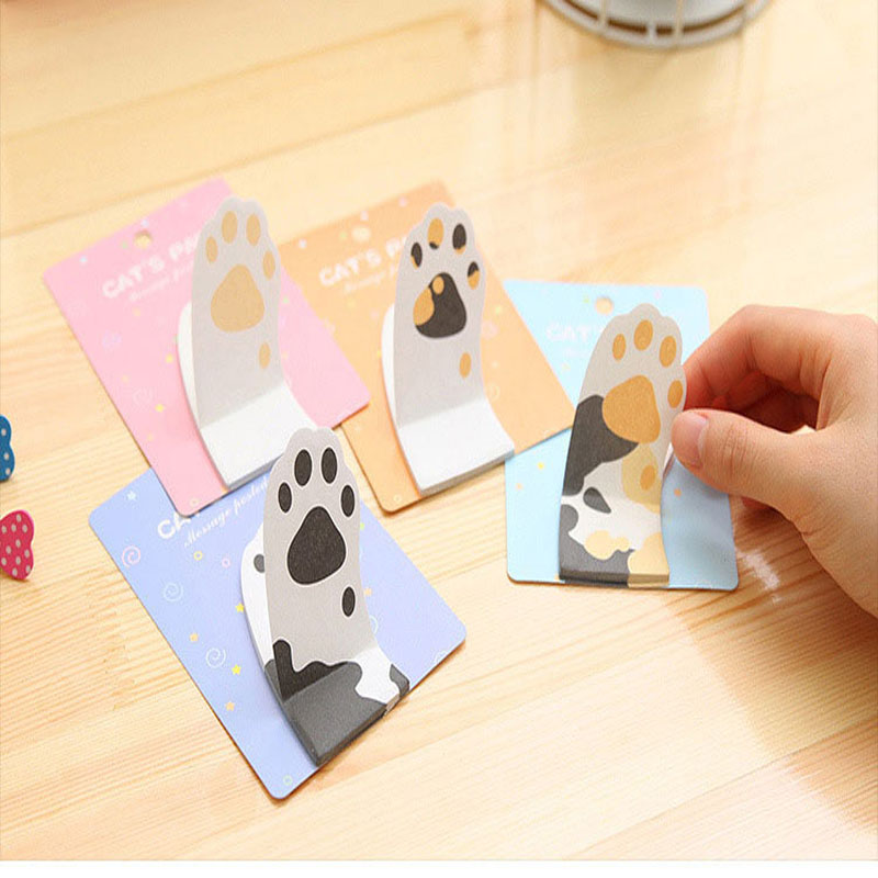 Meow Kawaii cat claw sticky notes adhesive sticker Post memos