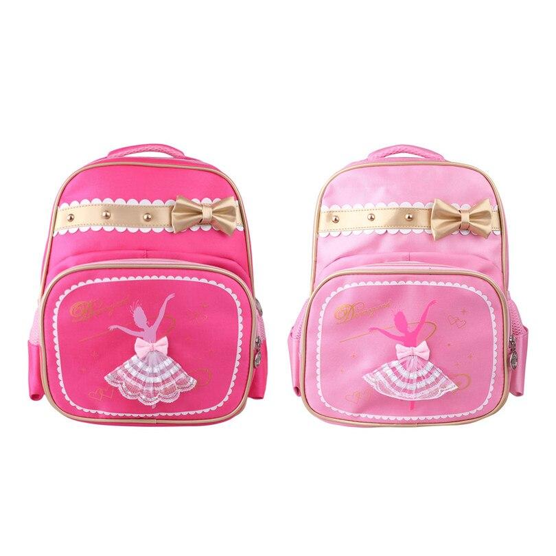 Kids Girls Fashion Ballet Bag Dance Bag Students School Backpack Soft Lightweight Dancing Girl Printed Cute Bowknot Shoulder Bag