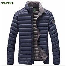 TAPOO Winter Jacket Men New Design Solid duck down Coat Male Windbreak Autumn Outwear Mens Warm Casual Jacket Hooded