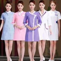 17 Designs Beautician Work Clothes Female Spring Summer Nurse Uniform Pharmacy Work Uniforms New Drugstore Dress