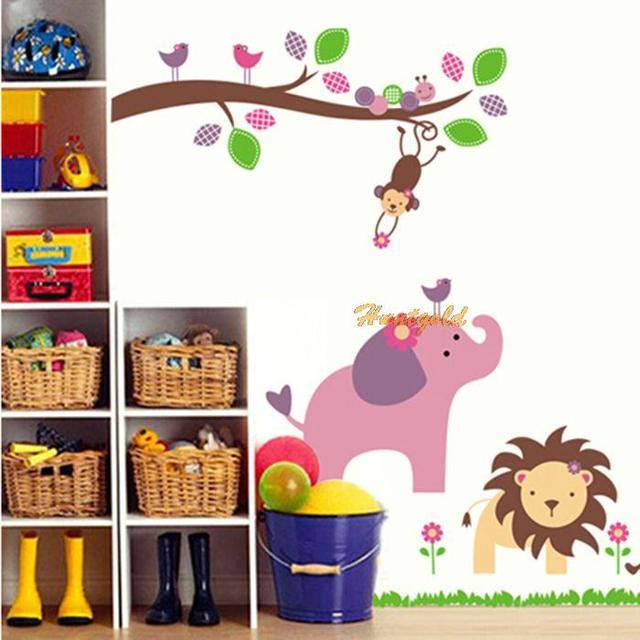 Removable Tree Animals Cartoon DIY Wall Decor Vinyl Decor Sticker Jungle  Animals Nursery Kids Rooms Art Part 83
