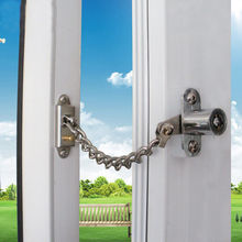 Lockable Window Security Chain Lock Door Restrictor Child Safety Stainless Key