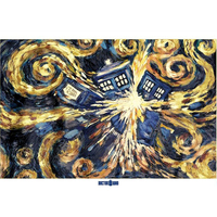 Hand Painted High Quality Abstract Doctor Who Exploding Unique Modern Abstract Oil Painting Canvas Wall Living Room Artwork Art