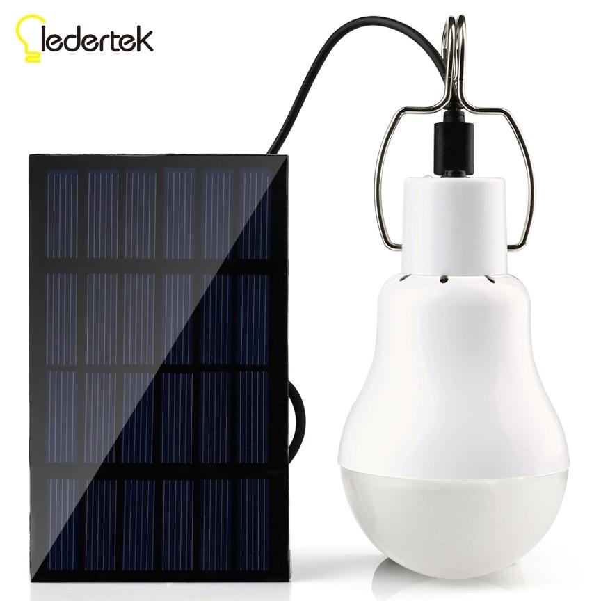 Énergie solaire Lumière Extérieure 15 W 130LM Lampe Solaire Portable Ampoule L'énergie solaire Lampe Led Éclairage Solaire Panneau Camp Tente De Pêche lumière