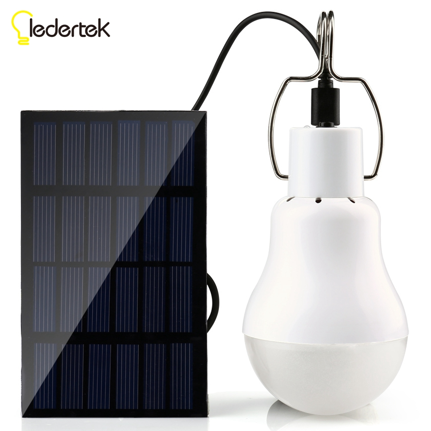 Solar Power Outdoor Light 15W 130LM Solar Lamp Portable Bulb Solar Energy Lamp Led Lighting Solar Panel Camp Tent Fishing Light